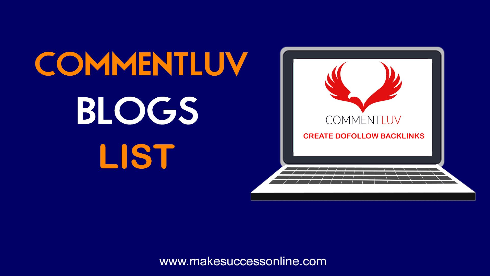commentluv dofollow blogs