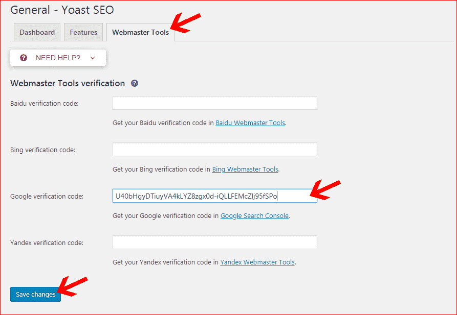 submit bluehost blog to google